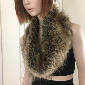 BP Faux Fur Infinity Scarf